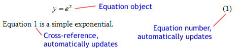 Formatted equation from Microsoft Word